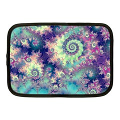 Violet Teal Sea Shells, Abstract Underwater Forest Netbook Case (medium)