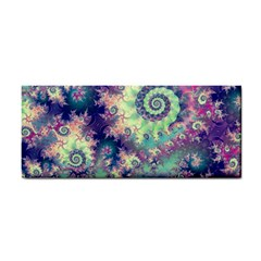 Violet Teal Sea Shells, Abstract Underwater Forest Hand Towel