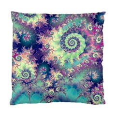 Violet Teal Sea Shells, Abstract Underwater Forest Cushion Case (Two Sides)