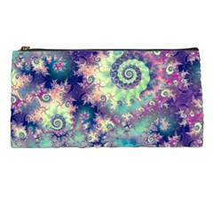 Violet Teal Sea Shells, Abstract Underwater Forest Pencil Case