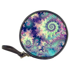 Violet Teal Sea Shells, Abstract Underwater Forest Classic 20 Cd Wallet