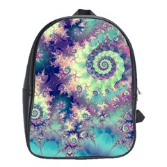 Violet Teal Sea Shells, Abstract Underwater Forest School Bag (Large)