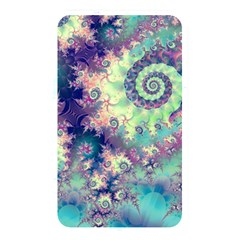 Violet Teal Sea Shells, Abstract Underwater Forest Memory Card Reader (rectangular)