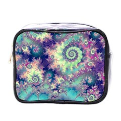 Violet Teal Sea Shells, Abstract Underwater Forest Mini Toiletries Bag (one Side)