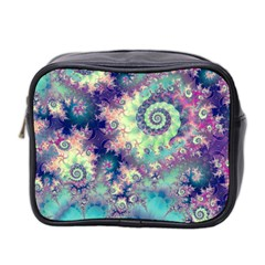 Violet Teal Sea Shells, Abstract Underwater Forest Mini Toiletries Bag (Two Sides)