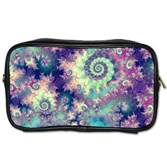 Violet Teal Sea Shells, Abstract Underwater Forest Toiletries Bag (Two Sides)