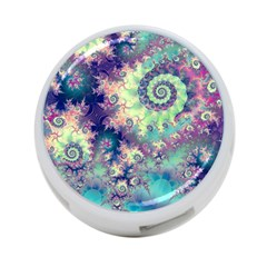 Violet Teal Sea Shells, Abstract Underwater Forest 4-Port USB Hub (Two Sides)