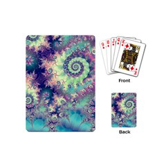 Violet Teal Sea Shells, Abstract Underwater Forest Playing Cards (mini)