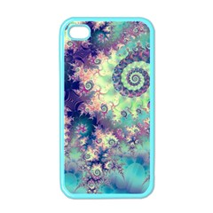 Violet Teal Sea Shells, Abstract Underwater Forest Apple Iphone 4 Case (color)