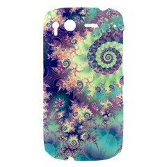 Violet Teal Sea Shells, Abstract Underwater Forest HTC Desire S Hardshell Case