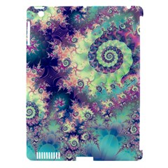 Violet Teal Sea Shells, Abstract Underwater Forest Apple iPad 3/4 Hardshell Case (Compatible with Smart Cover)