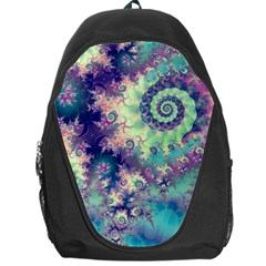 Violet Teal Sea Shells, Abstract Underwater Forest Backpack Bag