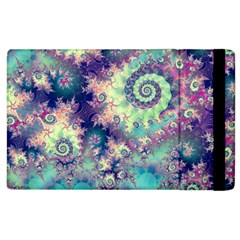 Violet Teal Sea Shells, Abstract Underwater Forest Apple Ipad 2 Flip Case