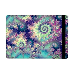 Violet Teal Sea Shells, Abstract Underwater Forest Apple iPad Mini Flip Case