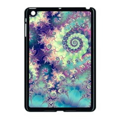 Violet Teal Sea Shells, Abstract Underwater Forest Apple Ipad Mini Case (black)