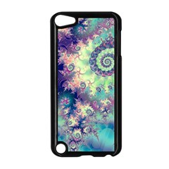 Violet Teal Sea Shells, Abstract Underwater Forest Apple iPod Touch 5 Case (Black)
