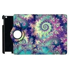 Violet Teal Sea Shells, Abstract Underwater Forest Apple Ipad 2 Flip 360 Case
