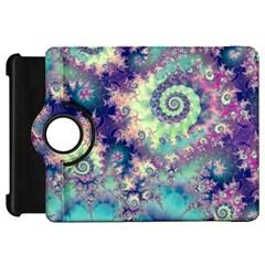 Violet Teal Sea Shells, Abstract Underwater Forest Kindle Fire HD 7  (1st Gen) Flip 360 Case