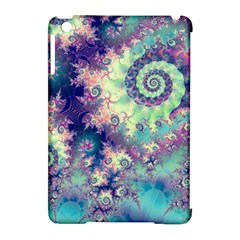 Violet Teal Sea Shells, Abstract Underwater Forest Apple iPad Mini Hardshell Case (Compatible with Smart Cover)