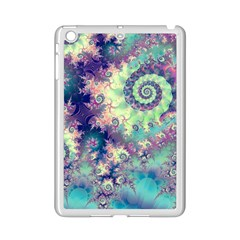 Violet Teal Sea Shells, Abstract Underwater Forest Apple iPad Mini 2 Case (White)
