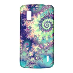 Violet Teal Sea Shells, Abstract Underwater Forest LG Nexus 4 E960 Hardshell Case