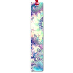 Violet Teal Sea Shells, Abstract Underwater Forest Large Book Mark