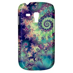 Violet Teal Sea Shells, Abstract Underwater Forest Samsung Galaxy S3 Mini I8190 Hardshell Case