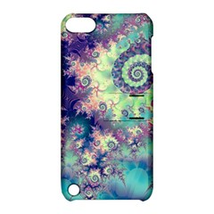 Violet Teal Sea Shells, Abstract Underwater Forest Apple Ipod Touch 5 Hardshell Case With Stand