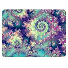 Violet Teal Sea Shells, Abstract Underwater Forest Samsung Galaxy Tab 7  P1000 Flip Case