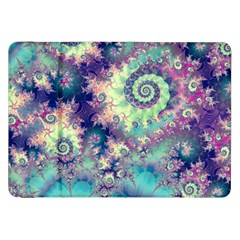 Violet Teal Sea Shells, Abstract Underwater Forest Samsung Galaxy Tab 8.9  P7300 Flip Case