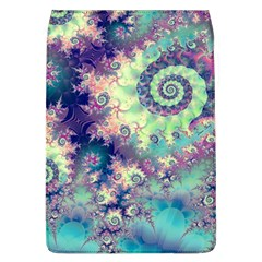 Violet Teal Sea Shells, Abstract Underwater Forest Removable Flap Cover (Large)