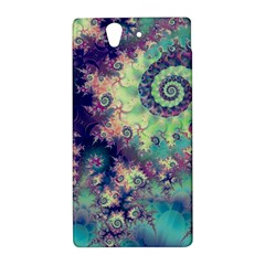 Violet Teal Sea Shells, Abstract Underwater Forest Sony Xperia Z (L36H) Hardshell Case