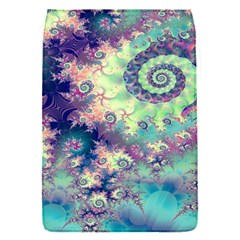 Violet Teal Sea Shells, Abstract Underwater Forest Removable Flap Cover (small)
