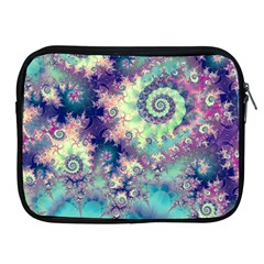 Violet Teal Sea Shells, Abstract Underwater Forest Apple iPad 2/3/4 Zipper Case