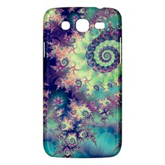 Violet Teal Sea Shells, Abstract Underwater Forest Samsung Galaxy Mega 5.8 I9152 Hardshell Case