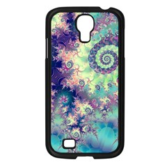 Violet Teal Sea Shells, Abstract Underwater Forest Samsung Galaxy S4 I9500/ I9505 Case (Black)