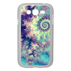 Violet Teal Sea Shells, Abstract Underwater Forest Samsung Galaxy Grand DUOS I9082 Case (White)