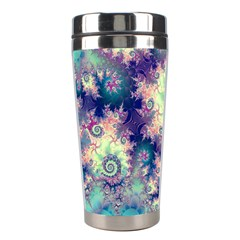 Violet Teal Sea Shells, Abstract Underwater Forest Stainless Steel Travel Tumbler