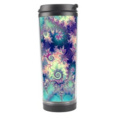 Violet Teal Sea Shells, Abstract Underwater Forest Travel Tumbler