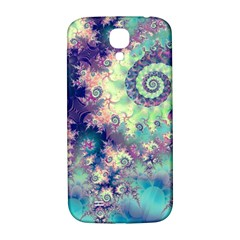 Violet Teal Sea Shells, Abstract Underwater Forest Samsung Galaxy S4 I9500/I9505  Hardshell Back Case