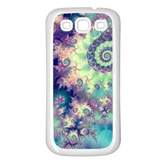 Violet Teal Sea Shells, Abstract Underwater Forest Samsung Galaxy S3 Back Case (White)