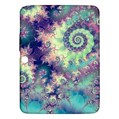 Violet Teal Sea Shells, Abstract Underwater Forest Samsung Galaxy Tab 3 (10.1 ) P5200 Hardshell Case