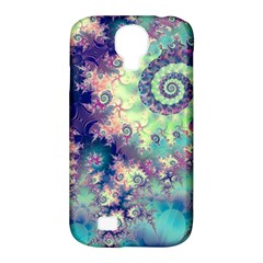Violet Teal Sea Shells, Abstract Underwater Forest Samsung Galaxy S4 Classic Hardshell Case (PC+Silicone)