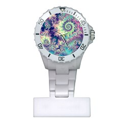 Violet Teal Sea Shells, Abstract Underwater Forest Nurses Watch