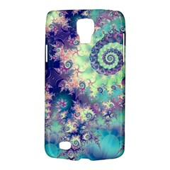 Violet Teal Sea Shells, Abstract Underwater Forest Samsung Galaxy S4 Active (I9295) Hardshell Case