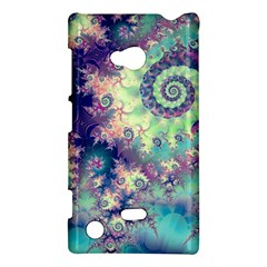 Violet Teal Sea Shells, Abstract Underwater Forest Nokia Lumia 720 Hardshell Case