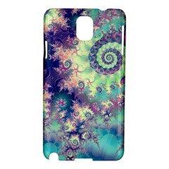 Violet Teal Sea Shells, Abstract Underwater Forest Samsung Galaxy Note 3 N9005 Hardshell Case
