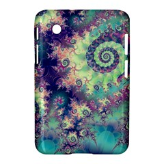 Violet Teal Sea Shells, Abstract Underwater Forest Samsung Galaxy Tab 2 (7 ) P3100 Hardshell Case