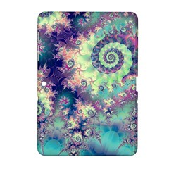 Violet Teal Sea Shells, Abstract Underwater Forest Samsung Galaxy Tab 2 (10.1 ) P5100 Hardshell Case