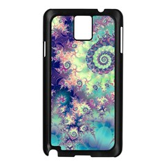 Violet Teal Sea Shells, Abstract Underwater Forest Samsung Galaxy Note 3 N9005 Case (Black)